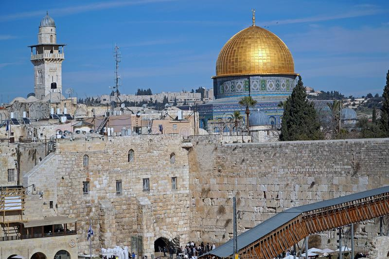 Jeruzalem, Koepel van de Rots stock afbeelding