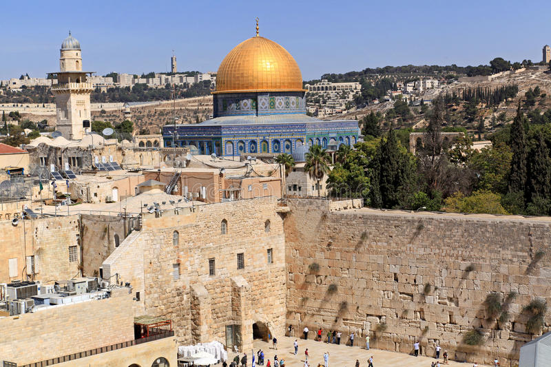 Jeruzalem, Koepel van de Rots stock foto
