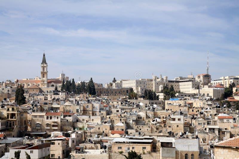 Jeruzalem van hierboven stock foto's