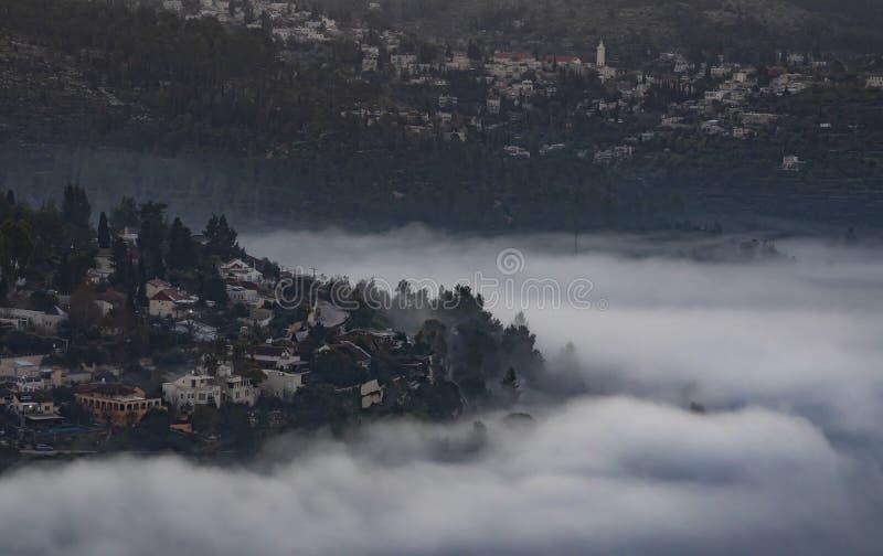 Jeruzalem in Wolken royalty-vrije stock fotografie
