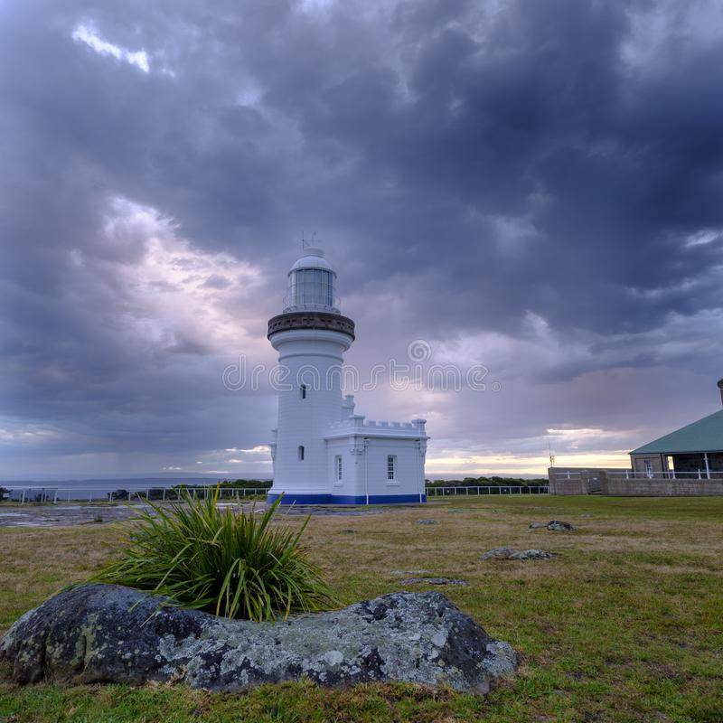 Point Perpendicular Light in the Beecroft Weapon Range in Jervis Bay, NSW, Australia royalty free stock images
