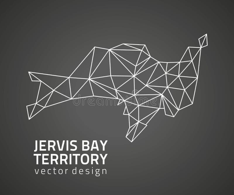 Jervis Trzymać na dystans terytorium czarnego trójboka mozaiki konturu wektorowa mapa ilustracji