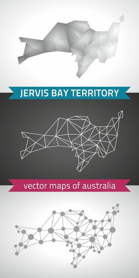 Jervis Trzymać na dystans terytorium ustawiający popielate i srebne mozaiki 3d poligonalne mapy Graficzna wektorowa trójbok geome royalty ilustracja
