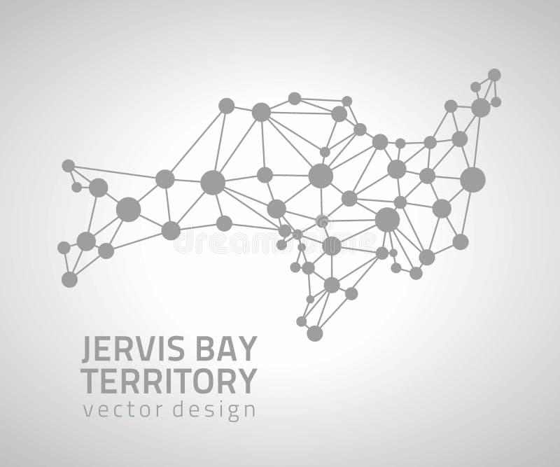 Jervis Trzymać na dystans terytorium wektoru kropki popielatego konturu nowożytna mapa ilustracji