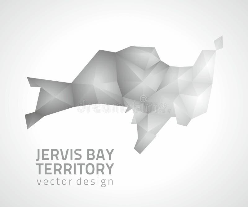 Jervis Trzymać na dystans terytorium wektoru popielatego i srebnego cienia poligonalna 3d mapa ilustracja wektor