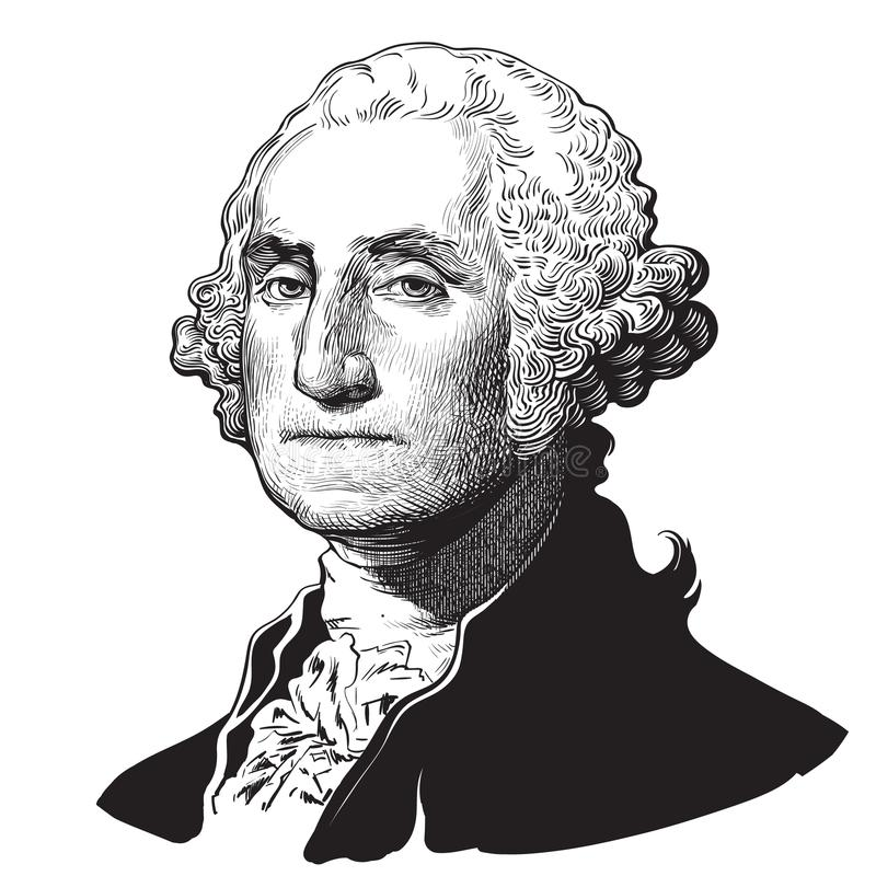 jerzego Waszyngtona ilustracja wektor