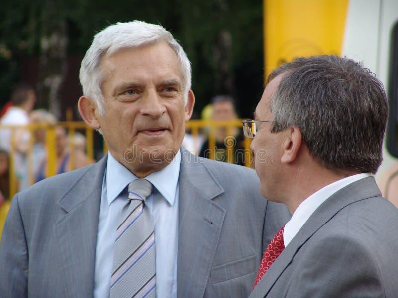 Jerzy Buzek - Präsident des Europäischen Parlaments. lizenzfreie stockfotografie