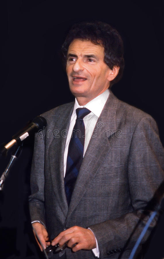 Jerzy Kosinski. Writer/author Jerzy Kosinski appears at a conclave discussing Polish culture and Polish Jewry in Jerusalem in January of 1988. Kosinski, born stock images