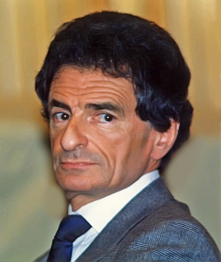 Jerzy Kosinski. Writer/author Jerzy Kosinski appears at a conclave discussing Polish culture and Polish Jewry in Jerusalem in January of 1988. Kosinski, born royalty free stock photography