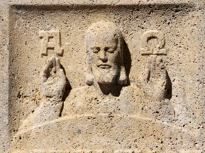 Jesús alfa y Omega imagen de archivo