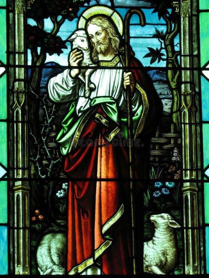 Jesús con el cordero imagenes de archivo