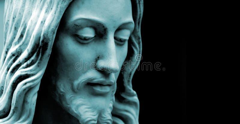 Jesús, dúo azul entonó el copia-espacio de la foto imagenes de archivo