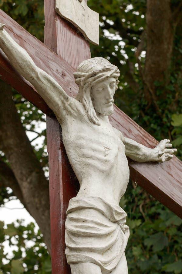 Jesús de piedra en Irlanda fotos de archivo