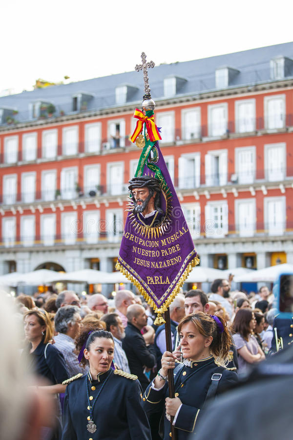 Jesús el cautivo, in the procession of Holy Week in Madrid, Apr royalty free stock images
