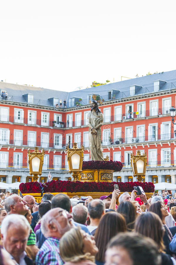 Jesús el cautivo, in the procession of Holy Week in Madrid, Apr stock photography