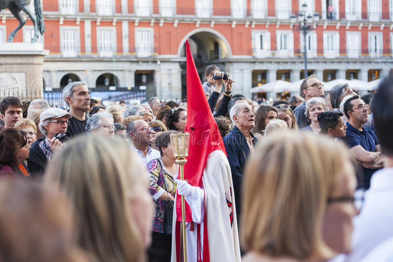 Jesús el cautivo, in the procession of Holy Week in Madrid, Apr stock photo
