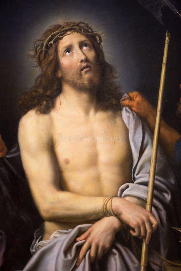 Jesús en el Viernes Santo - pintura en el museo de Ruán imagen de archivo