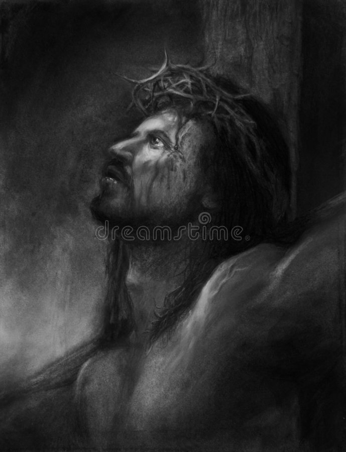 Jesús en la cruz ilustración del vector