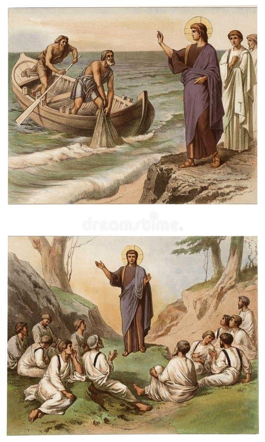 Jesús llama a los primeros discípulos libre illustration