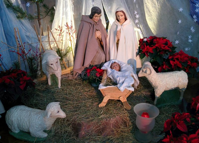 Jesús, Maria y José fotografía de archivo libre de regalías