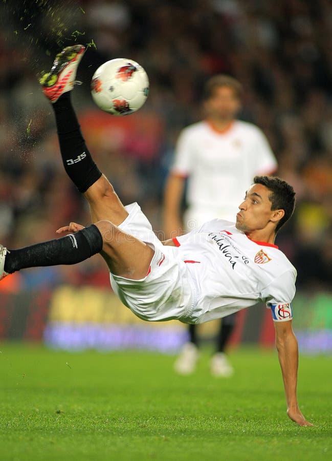 Jesús Navas de Sevilla FC fotografía de archivo