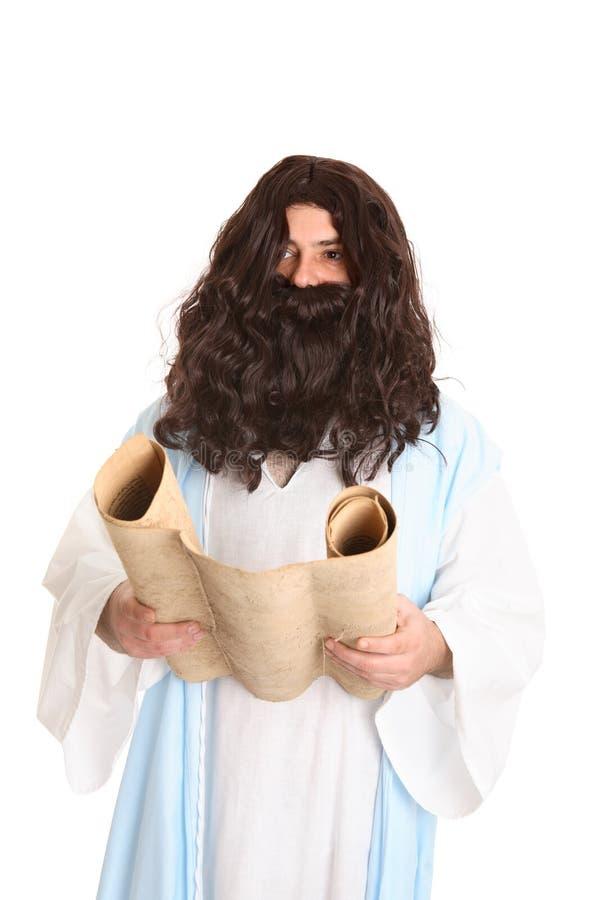 Jesús que lee las escrituras foto de archivo libre de regalías