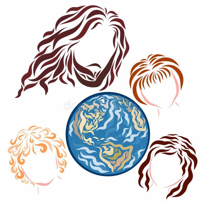 Jesús, tierra y niños todopoderosos libre illustration