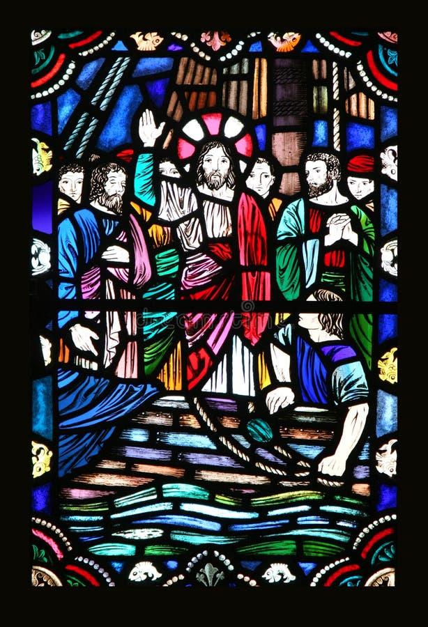 Jesús y los discípulos fotografía de archivo libre de regalías