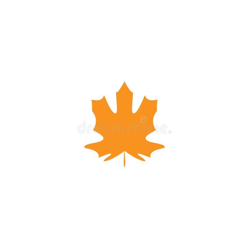 Jesień liść klonowy Odizolowywał natura symbol, sylwetka na białym tle również zwrócić corel ilustracji wektora royalty ilustracja