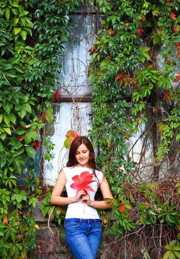 jesień ładni kobiety potomstwa zdjęcia stock