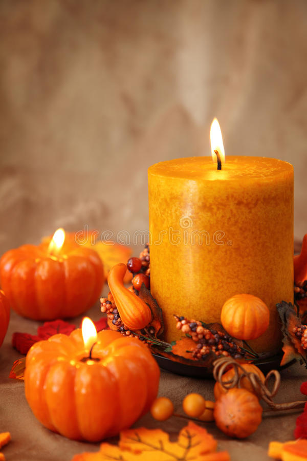 jesień świeczki zdjęcie royalty free