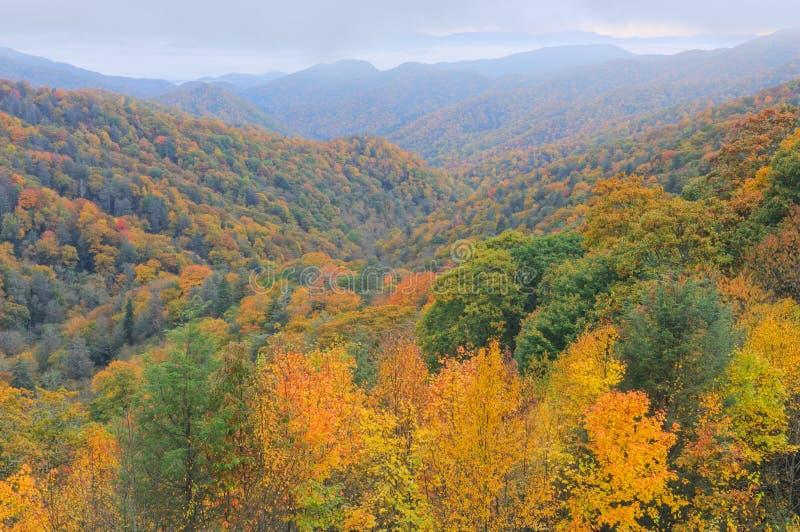 jesień błękitny parkway grań zdjęcie royalty free