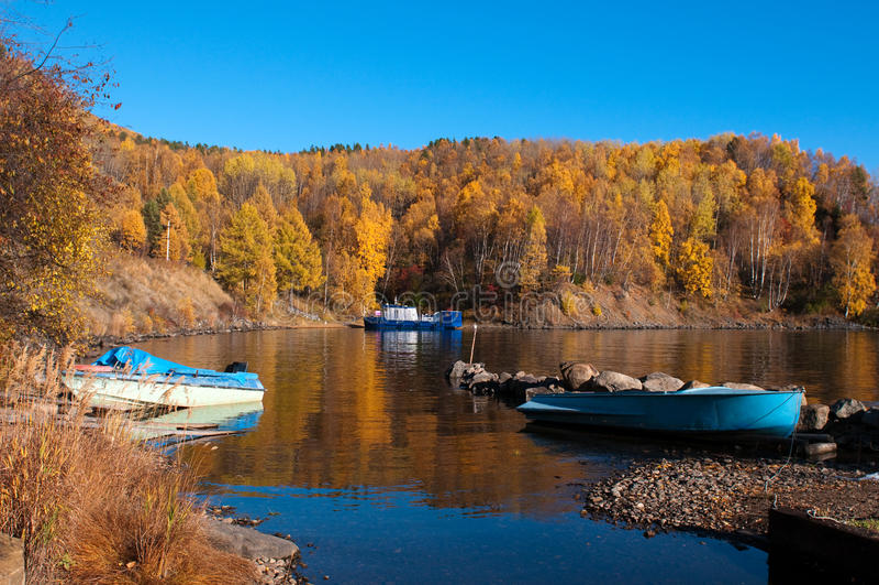 jesień Baikal jezioro obraz stock