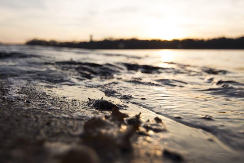 jesień Baltic wieczór morza zmierzch obraz stock