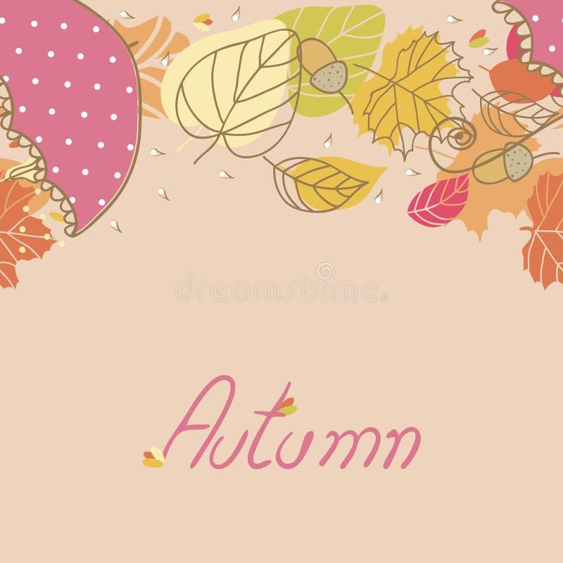 Jesień, bezszwowa granica ilustracja wektor
