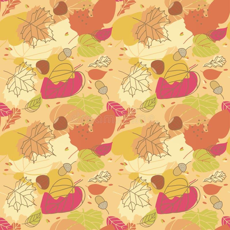 Jesień bezszwowy Wzór ilustracja wektor