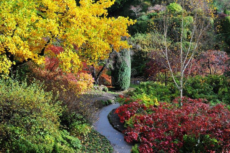 jesień butchart ogródy obrazy royalty free
