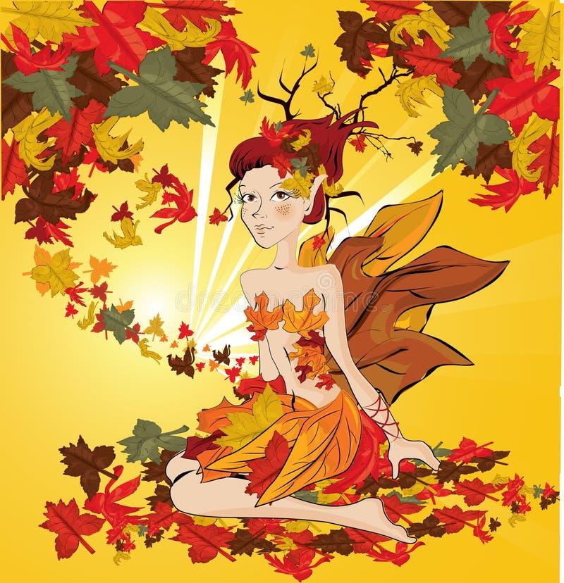 jesień czarodziejka ilustracja wektor