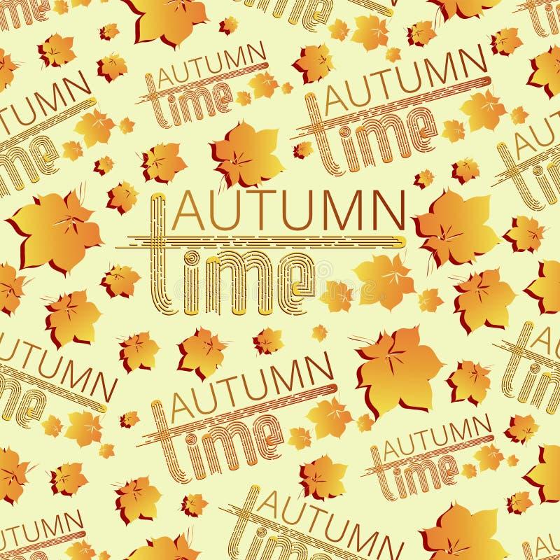 Jesień czas objętych liście royalty ilustracja