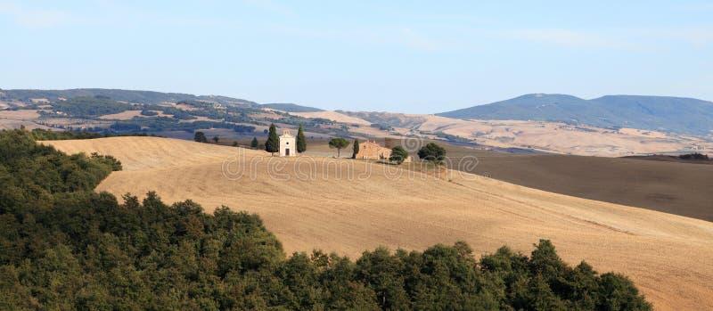 jesień d krajobrazu orcia Tuscany val zdjęcie royalty free
