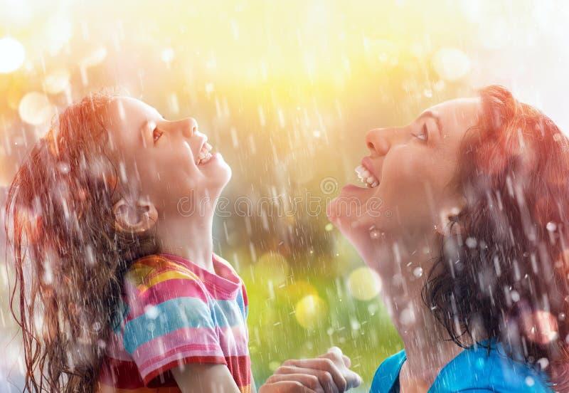 Jesień deszcz obraz royalty free