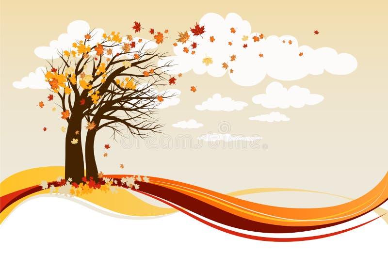jesień drzewa ilustracji