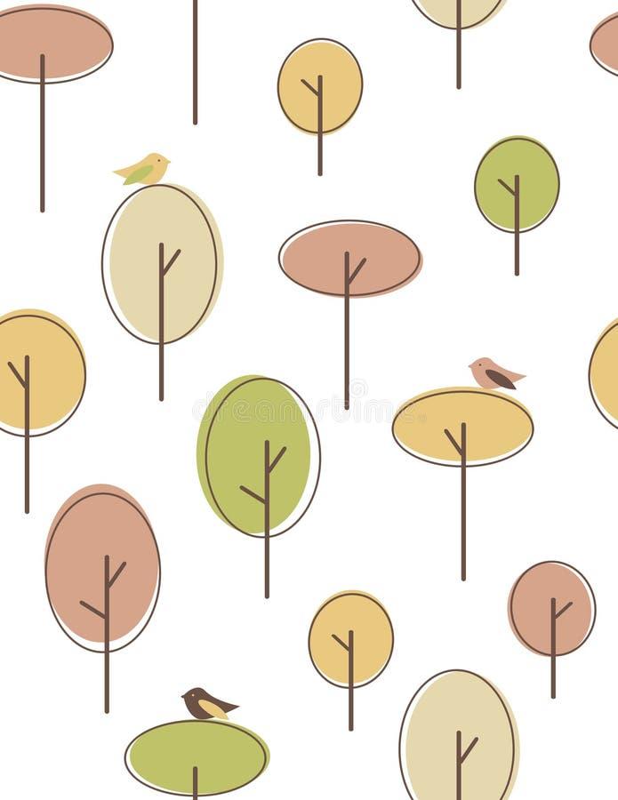 jesień drzewa royalty ilustracja
