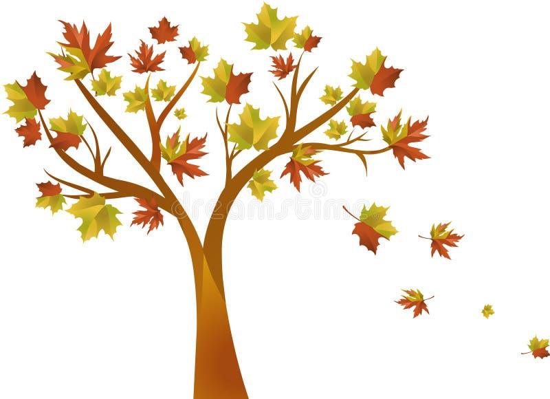 Jesień drzewo ilustracja wektor