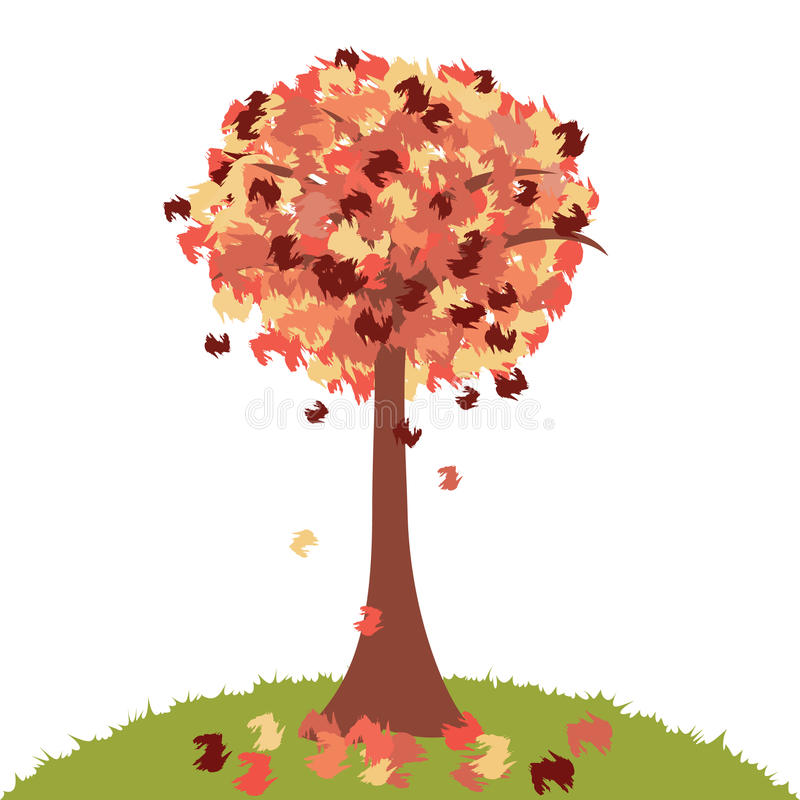 jesień drzewo royalty ilustracja
