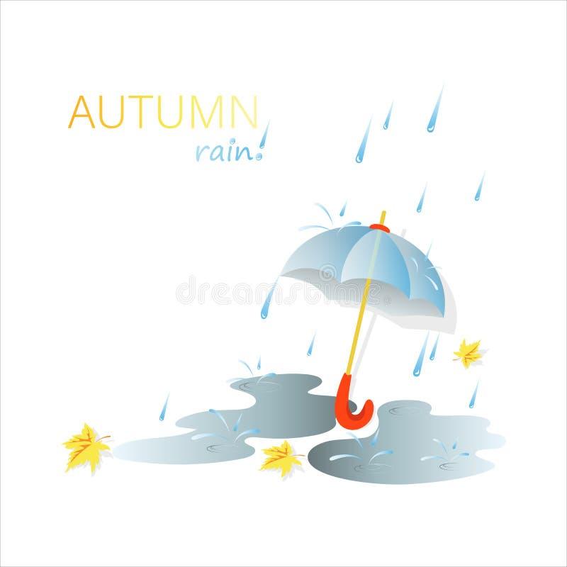 Jesień dzień deszcz royalty ilustracja