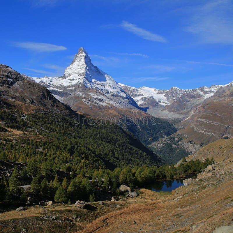 Jesień dzień w Zermatt obraz royalty free