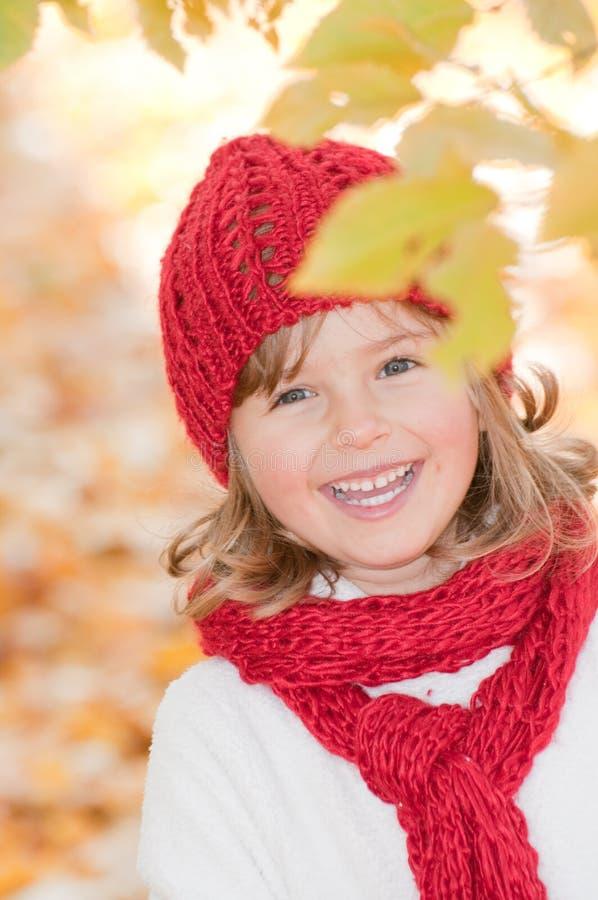 jesień dziewczyny trochę park zdjęcia stock