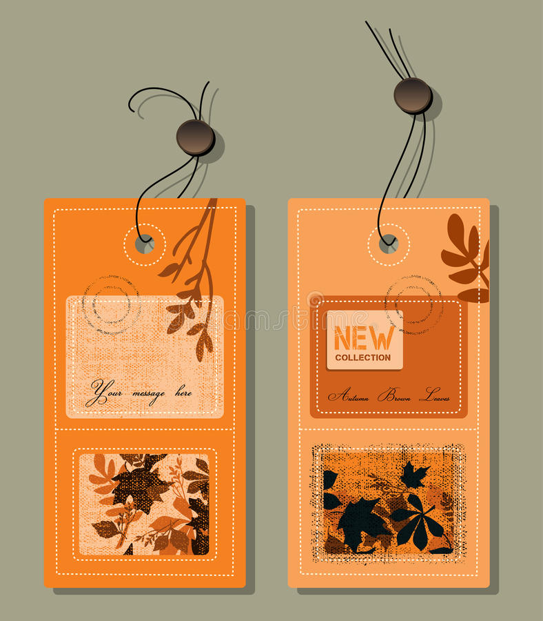 jesień etykietki royalty ilustracja