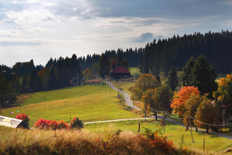 Jesień góry krajobraz fotografia stock